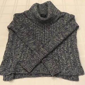 American Eagle Variegated Blue Cowlneck Sweater.